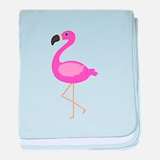 Bubblegum Pink Flamingo baby blanket