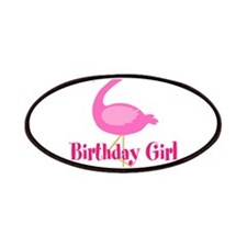 Birthday Girl Pink Flamingo Patches