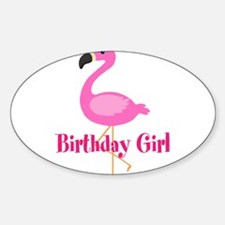 Birthday Girl Pink Flamingo Decal