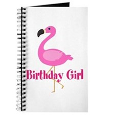 Birthday Girl Pink Flamingo Journal