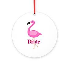 Bride Pink Flamingo Ornament (Round)