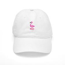 Bride Pink Flamingo Baseball Baseball Cap