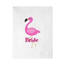 Bride Pink Flamingo Twin Duvet