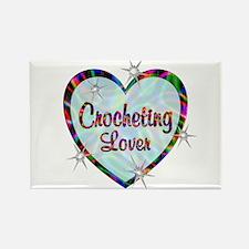 Crocheting Lover Rectangle Magnet