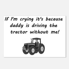 Daddy driving tractor Postcards (Package of 8)