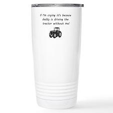 Daddy driving tractor Travel Mug