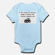 Daddy driving tractor Body Suit