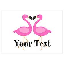 Personalizable Pink Flamingos Invitations