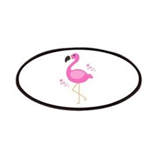 Pink Flamingo Hearts Patches