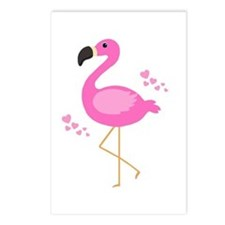 Pink Flamingo Hearts Postcards (Package of 8)