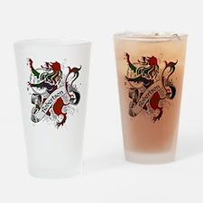 Robertson Tartan Lion Drinking Glass
