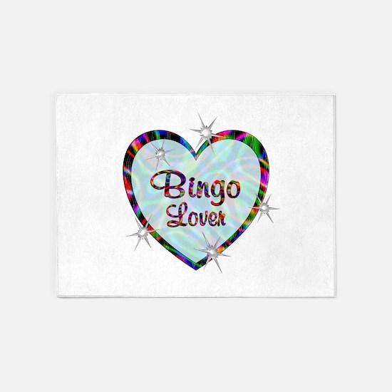 Bingo Lover 5'x7'Area Rug