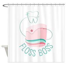 Floss Boss Shower Curtain