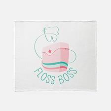 Floss Boss Throw Blanket