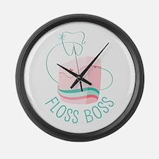 Floss Boss Large Wall Clock