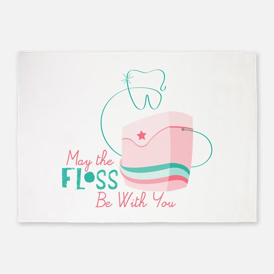 Floss be with You 5'x7'Area Rug