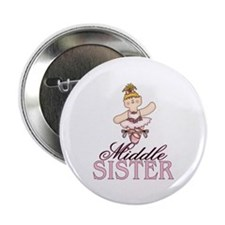 """Ballerina Middle Sister 2.25"""" Button (100 pack)"""
