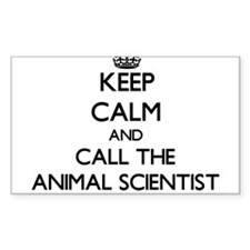 Keep calm and call the Animal Scientist Decal