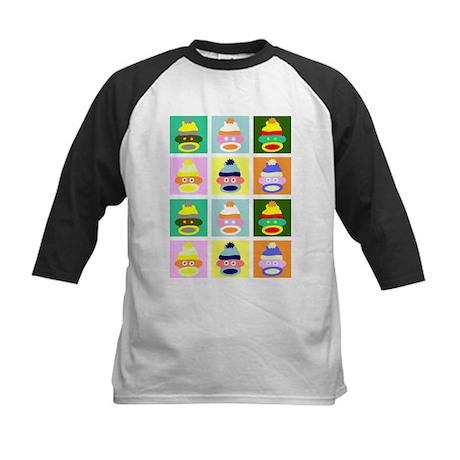Pop Art Sock Monkey Kids Baseball Jersey