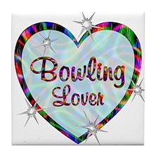 Bowling Lover Tile Coaster