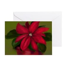 Cute Poinsettia painted Greeting Card