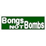 Bongs not Bombs (bumper sticker)