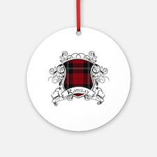 Ramsay Tartan Shield Ornament (Round)