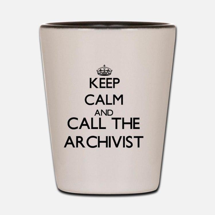 Cute Archivist Shot Glass