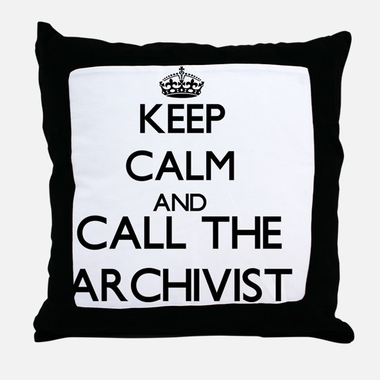 Cute Archives Throw Pillow
