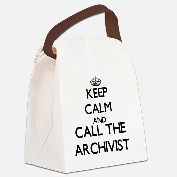 Cute Archivist Canvas Lunch Bag
