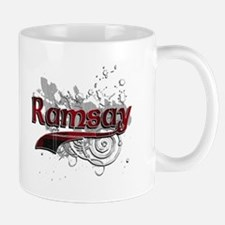 Ramsay Tartan Grunge Small Small Mug
