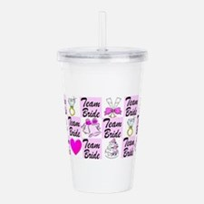 PRETTY TEAM BRIDE Acrylic Double-wall Tumbler