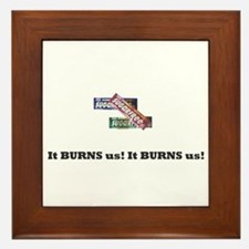 Sugarfree Gum! NO! Framed Tile