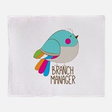 Branch Manager Throw Blanket