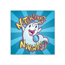 "Notorious Narwhals Square Sticker 3"" x 3"""