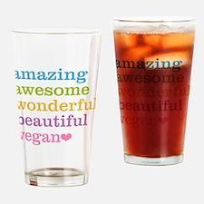 Unique Veganism Drinking Glass
