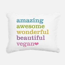 Funny Vegan Rectangular Canvas Pillow