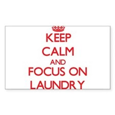 Keep Calm and focus on Laundry Decal