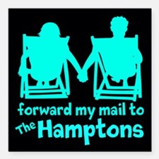 "The Hamptons Square Car Magnet 3"" x 3"""