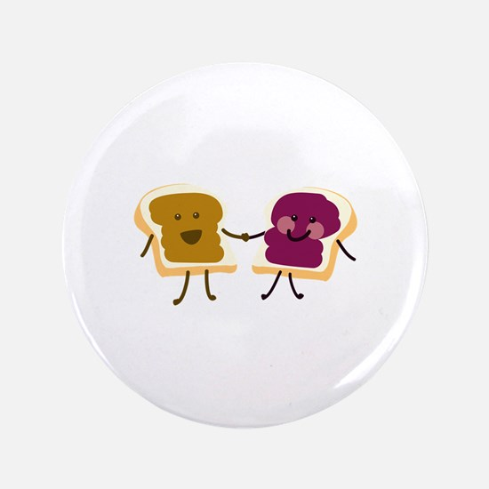 """Peanutbutter and Jelly 3.5"""" Button"""