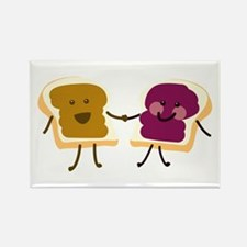 Peanutbutter and Jelly Magnets