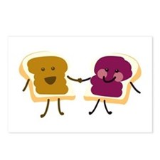 Peanutbutter and Jelly Postcards (Package of 8)
