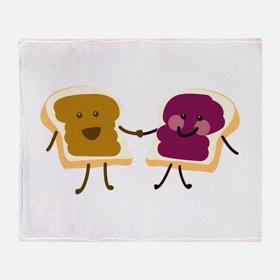 Peanutbutter and Jelly Throw Blanket