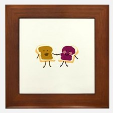 Peanutbutter and Jelly Framed Tile