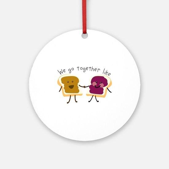 Together Sandwich Ornament (Round)