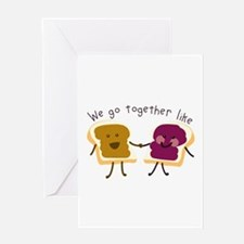 Together Sandwich Greeting Cards
