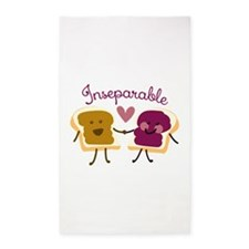 Inseparable Sandwich 3'x5' Area Rug