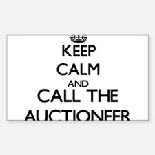Keep calm and call the Auctioneer Decal