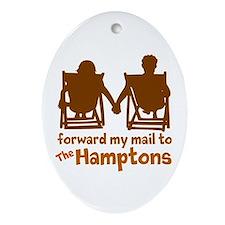 The Hamptons Ornament (Oval)