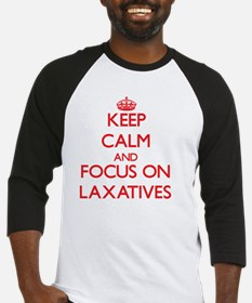Keep Calm and focus on Laxatives Baseball Jersey